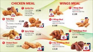 Chicken & Pizza Digital Menu Screen - Screen 1