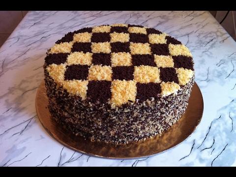 Торт Шахматный/Шахматный Торт/Chessboard Cake/Авторский Рецепт/Пошаговый Рецепт(Очень Вкусно)