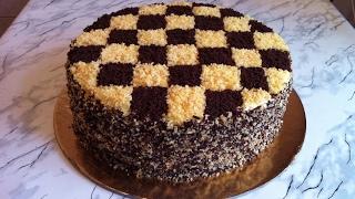 """Торт """"Шахматный""""/Шахматный Торт/Chessboard Cake/Авторский Рецепт/Пошаговый Рецепт(Очень Вкусно)"""