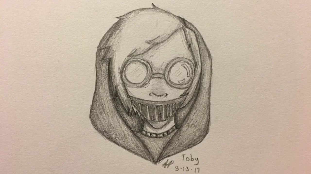how to draw ticci toby youtube