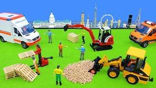 Bruder Spielwaren: Toys for Kids Excavator, Vehicles, Tractor & Trucks work | Unboxing Movie