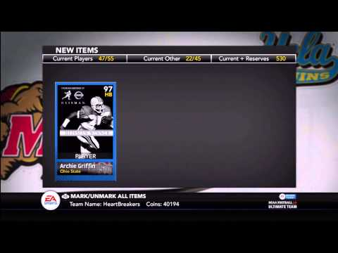 NCAA Football 14 Ultimate Team - Episode 5 - Archie Griffin Heisman Collection DONE