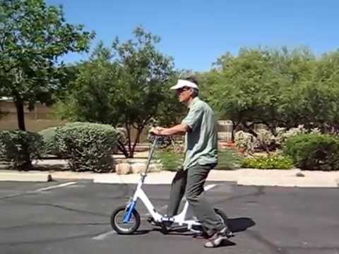 Walking with Reduced Foot Pressure Demo: Walk Aid Scooter for Calcaneous Fracture and other Injuries