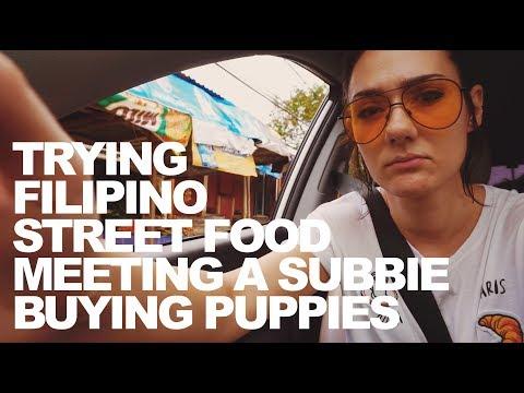 TRYING FILIPINO STREET FOOD & BUYING PUPPIES | vlog 19 (PHILIPPINES)