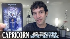 CAPRICORN April 2019 Extended Monthly Intuitive Tarot Reading by Nicholas Ashbaugh