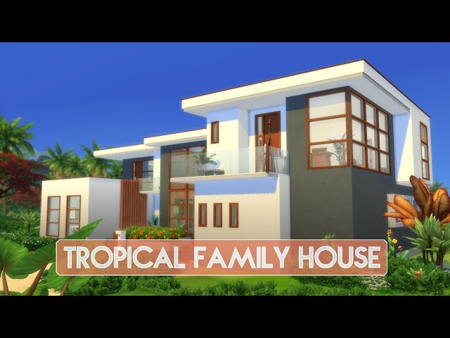 Sims 4 | House Building | Tropical Family House