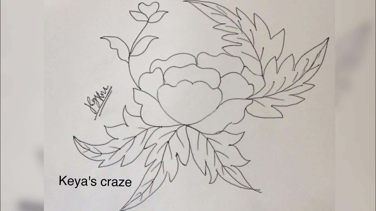 Very Easy Drawing Of Flower Design For Hand Embroidery 136created