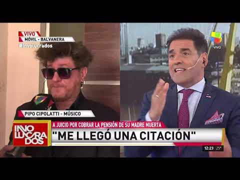Pipo Cipolatti habló con Involucrados sobre la acusación de cobrar la pensión de su madre muerta