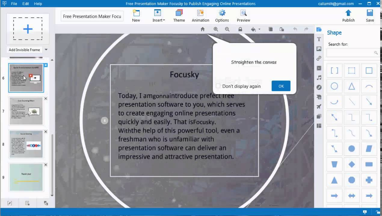 main features of free online presentation software focusky youtube