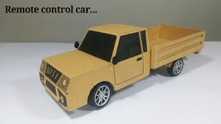 How to make a Car with cardboard || working model school project