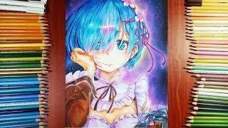 Zeichnung REM von Re: Zero | Anime Zeichnung | VHart