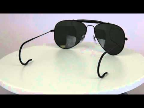 ray-ban-rb3030-outdoorsman-aviator-men's-sunglasses-with-cable-temples