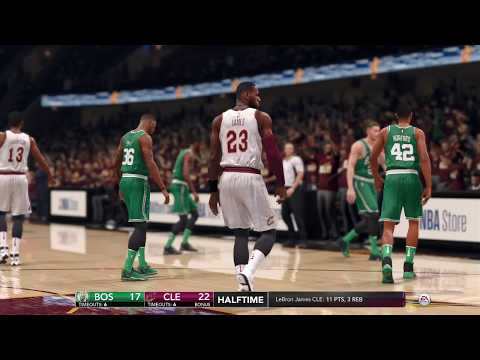 NBA LIVE 18 CPU vs CPU - Boston Celtics vs Cleveland Cavaliers - Full Game - HD