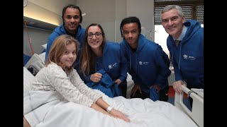 Inter Visit Children's Hospitals In Milano (with De Vrij, Lazaro, Ranocchia And Padelli)