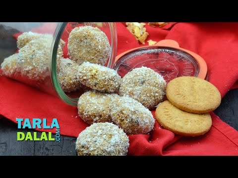 Healthy No Bake Cookies, Peanut butter and Muesli Cookies by Tarla Dalal