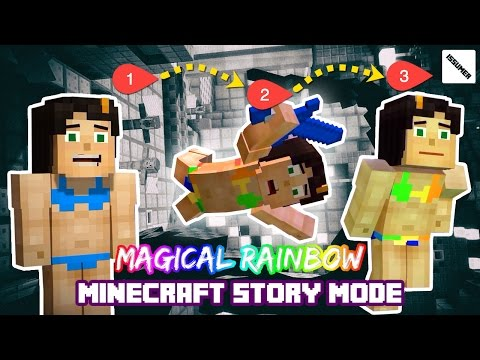 Making Magical Rainbow Armor! Minecraft Story Mode (Swimsuit Skin Series)