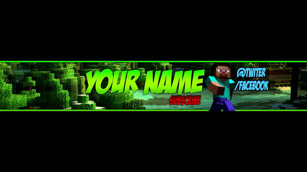 youtube channel art banner template