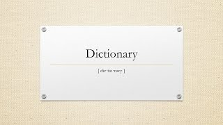 Definition of Dictionary. Meaning, Pronunciation, Origin, Synonyms, Thesaurus, Video, and Sentences.