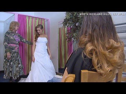 Military brides get free gowns at this boutique