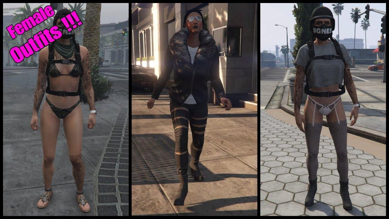 GTA 5 Online | u2661 Female Outfits #3 u2661 | [German] | [Ps4] - YouTube