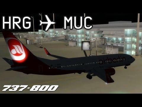 [P3D] Hurghada to Munich   BER3553   airberlin   PMDG 737-800   IVAO
