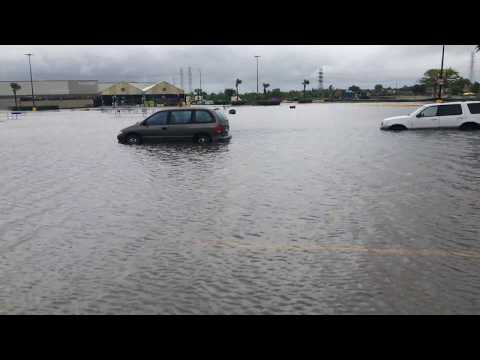 My Walmart underwater.. League city houston #harvey