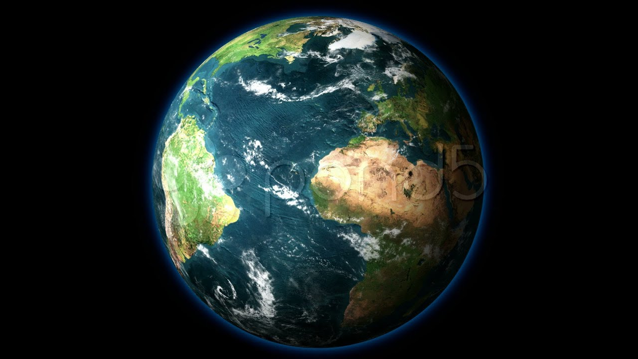 3d Wallpaper Live Moving Hd 1080 Planet Earth Rotates On Black Background Stock