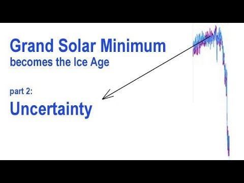 Grand Solar Minimum becomes the Ice Age  Uncertainty