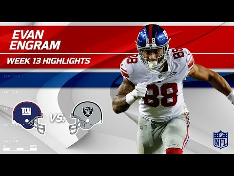 Evan Engram's 1 TD & Amazing One-Handed Catch vs. Oakland! | Giants vs. Raiders | Wk 13 Player HLs