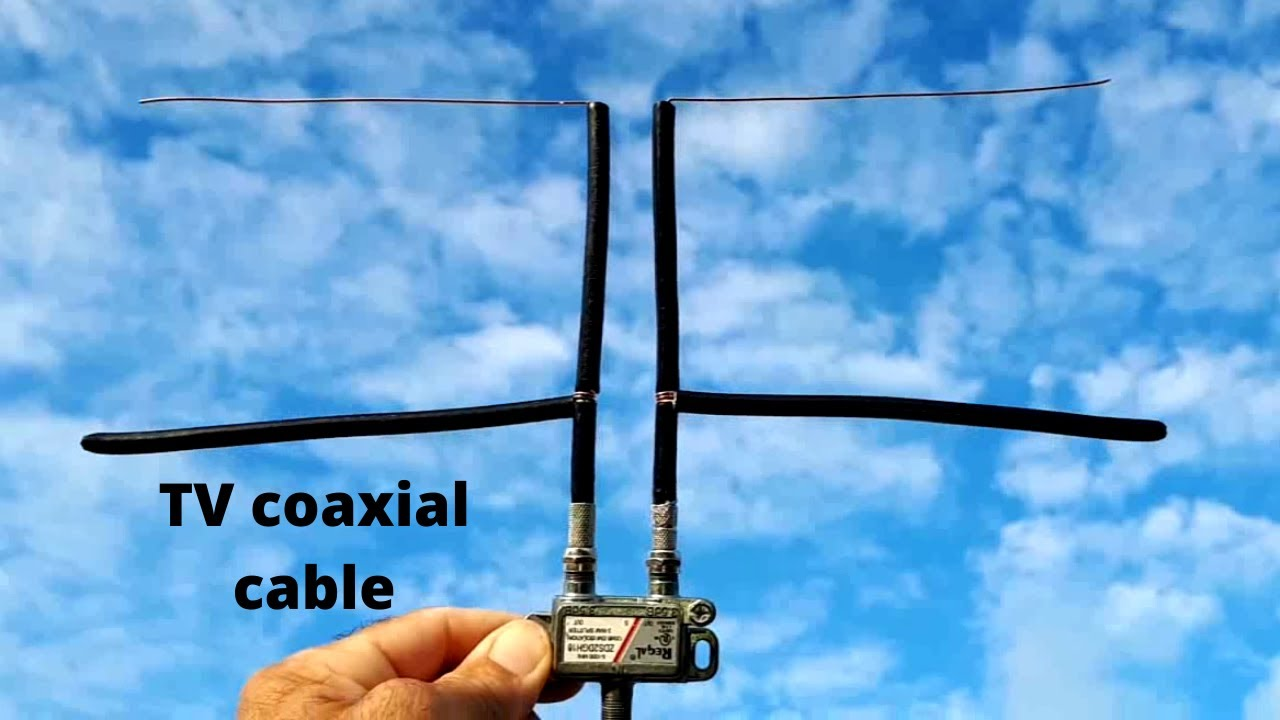 How To Make Tv Antenna From Coaxial Cable And Splitter