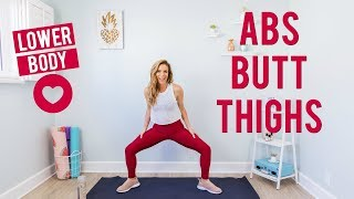 Lower Body Love | ABS , BUTT & THIGHS Workout