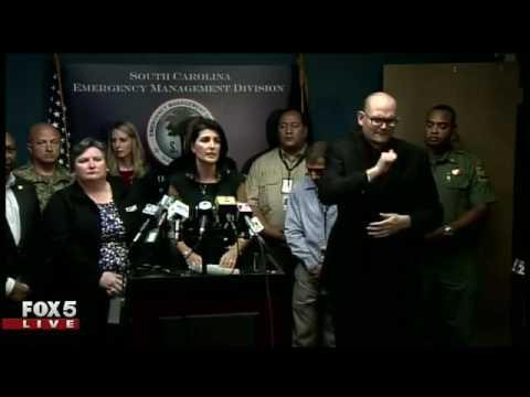 Hurricane Matthew - S.C. Governor update 6pm Wednesday