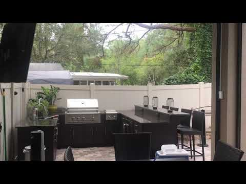 Motorized Screen Walls And Retractable Awning