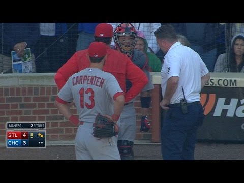 STL@CHC: Molina exits the game with an injury