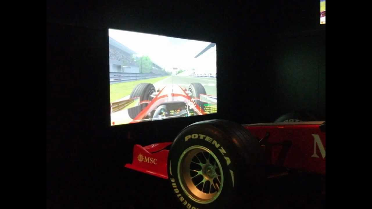 MSC Splendida - F1 Simulator - Monte Carlo GP - YouTube
