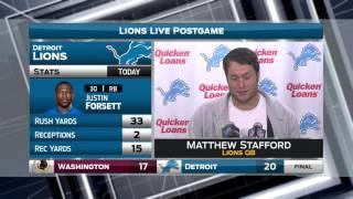 Lions LIVE Postgame 10.23.16: Matthew Stafford