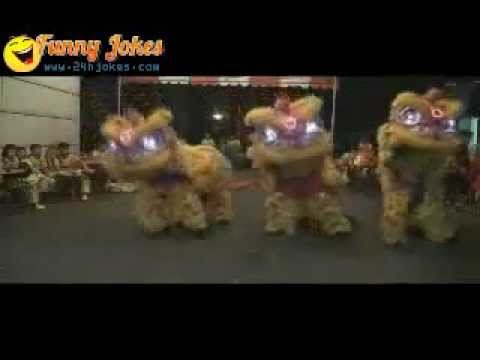 Lion dance gangnam style