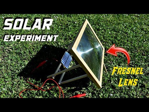Solar Panel Experiment Using Fresnel Lens!