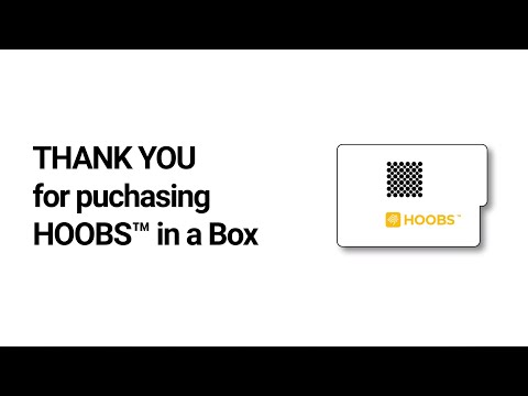 Setup HOOBS™ in a Box