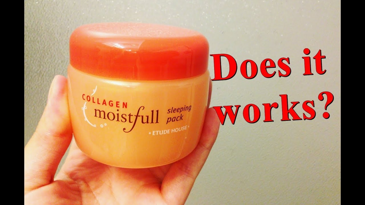 Etude House Moistfull Collagen Sleeping Pack Review - Korean Skincare