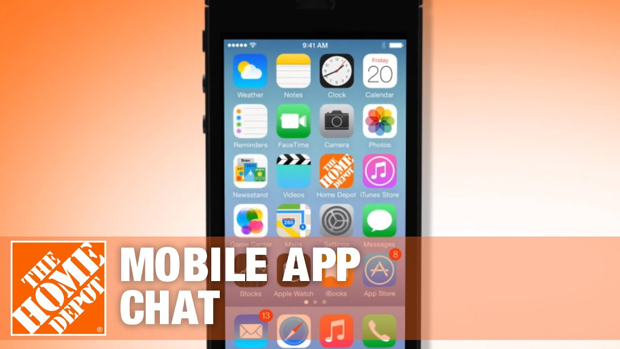 Chat The Home Depot Mobile App Youtube