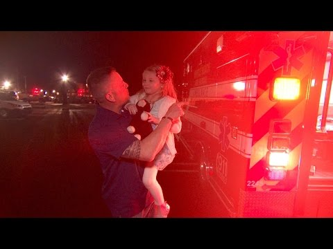 Firefighter Shows His 5-Year-Old Adopted Daughter Ambulance Where She Was Born