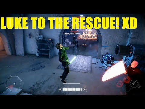 Star Wars Battlefront 2 - Luke is a Jedi and he's here to rescue this team! (HvsV) thumbnail