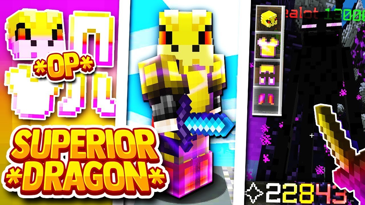 Hypixel Skyblock The Best Dragon Set Superior Dragon Armor By Aeromc The full set can be crafted from 240 unstable dragon fragments and is one of the eight dragon armor sets. superior dragon armor