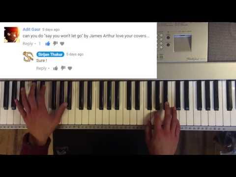 """James Arthur"" - Say You Won't Let Go ( Piano ) [ Request - 2 ]"