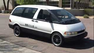 Testing The Locked Differential For Drifting On The Tofu Van (Toyota Previa)
