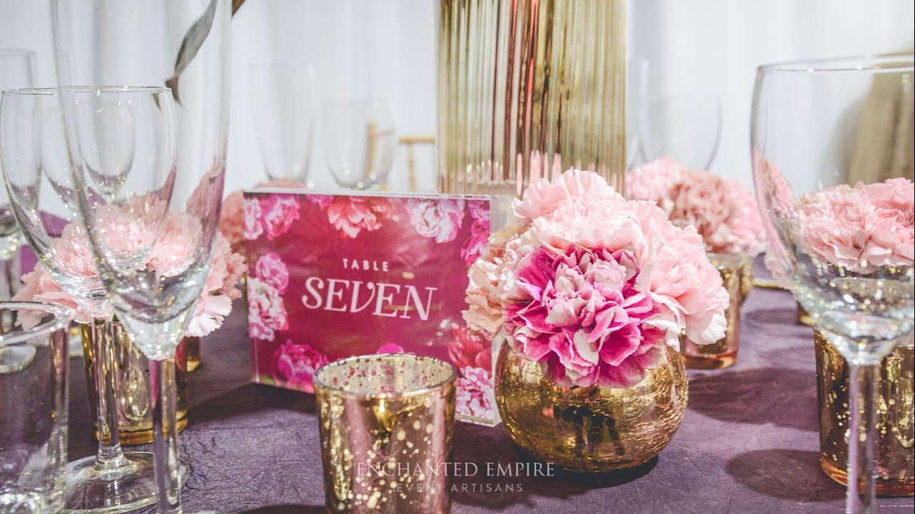 Deep Magenta + Gold Wedding, styled by Enchanted Empire, Event ...