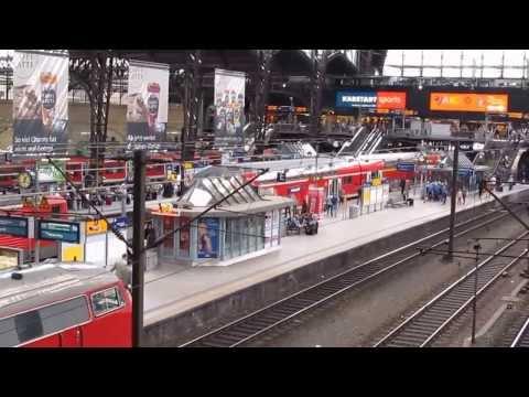 Hamburg Hauptbahnhof -  main railway station in Hamburg [HD]