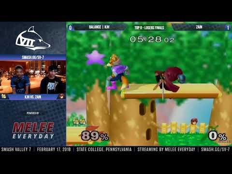 Smash Valley 7 - Balance | KJH (Fox) vs. Zain (Marth) - SSBM - Top 8, Losers Finals