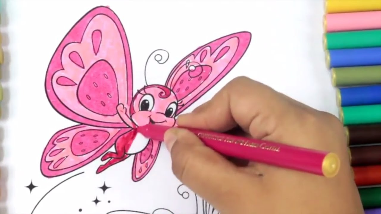 Colour in pictures of butterflies children coloring - Draw Color Paint Butterfly Coloring Page For Kids To Learn Painting